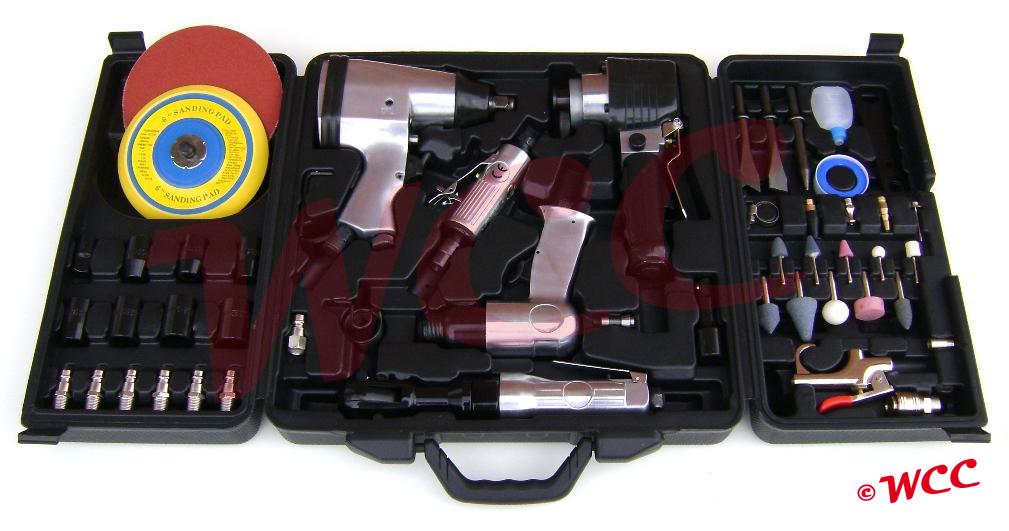 Luchtdrukgereedschap koffer set 59-delig
