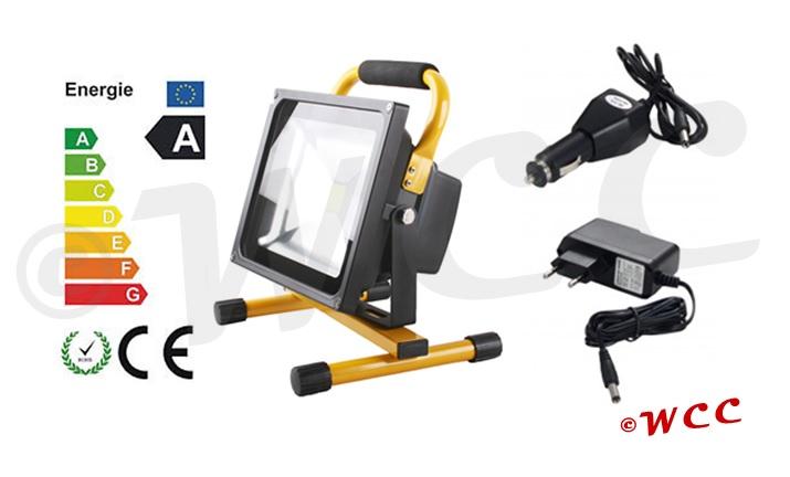 Oplaadbare LED schijnwerper 50 Watt